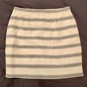 Jcrew stripe linen mini skirt
